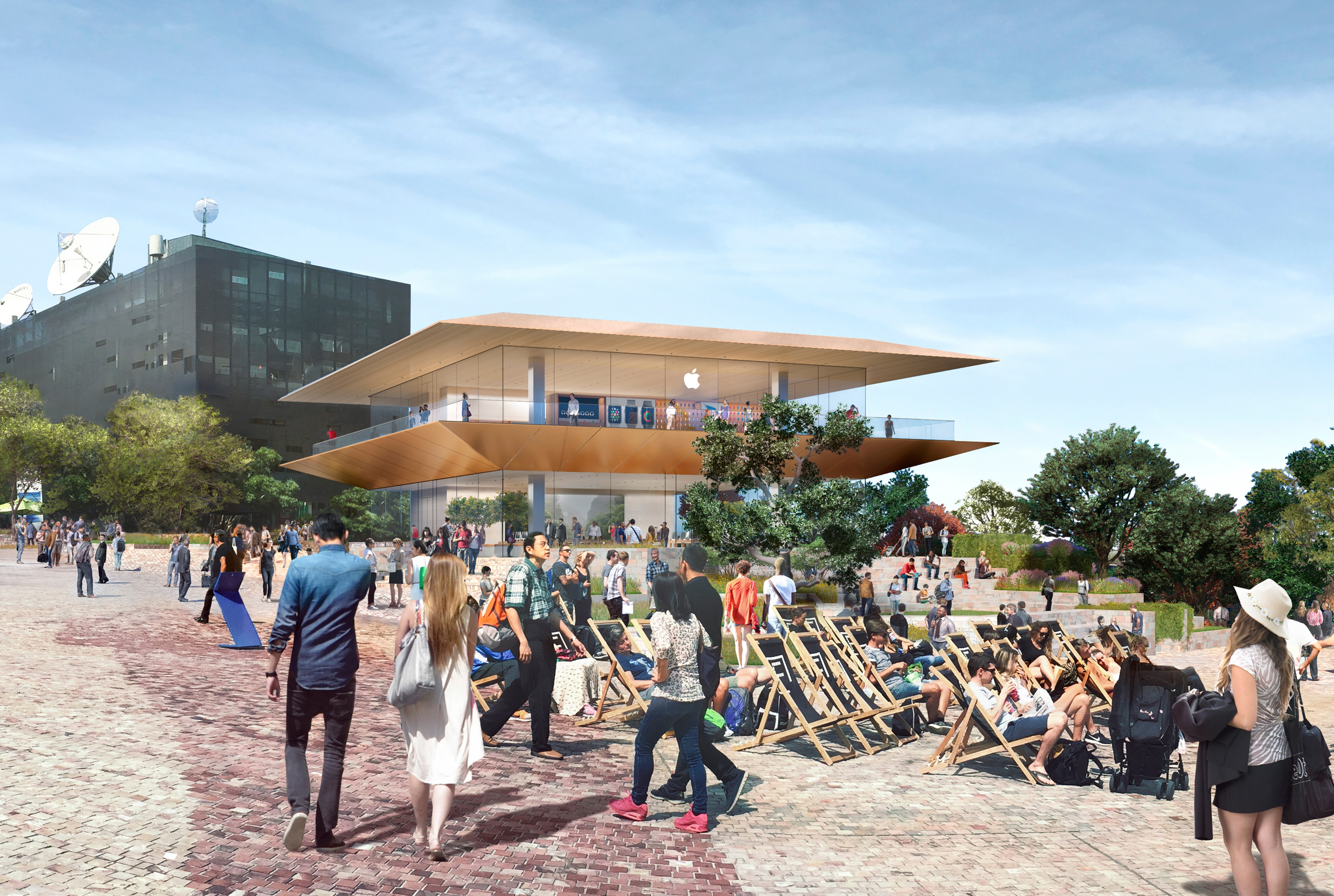 Render de como será a Apple Store da Federation Square em Melbourne