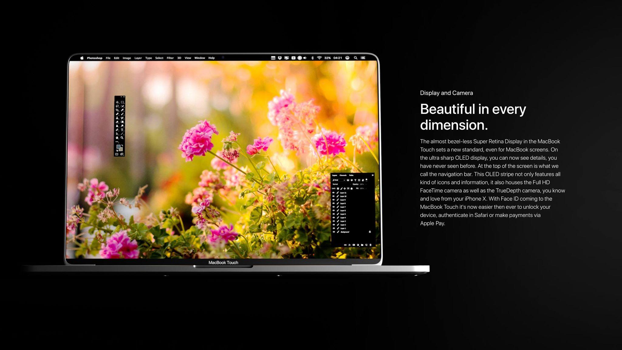 """Conceito de """"MacBook Touch"""""""