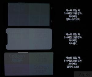 Teste de burn-in: iPhone X, Samsung Galaxy S7 Edge e Note 8