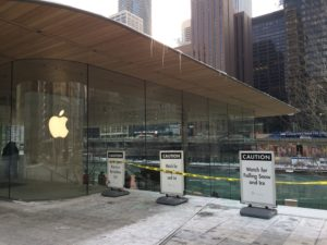 Gelo na Apple de Chicago