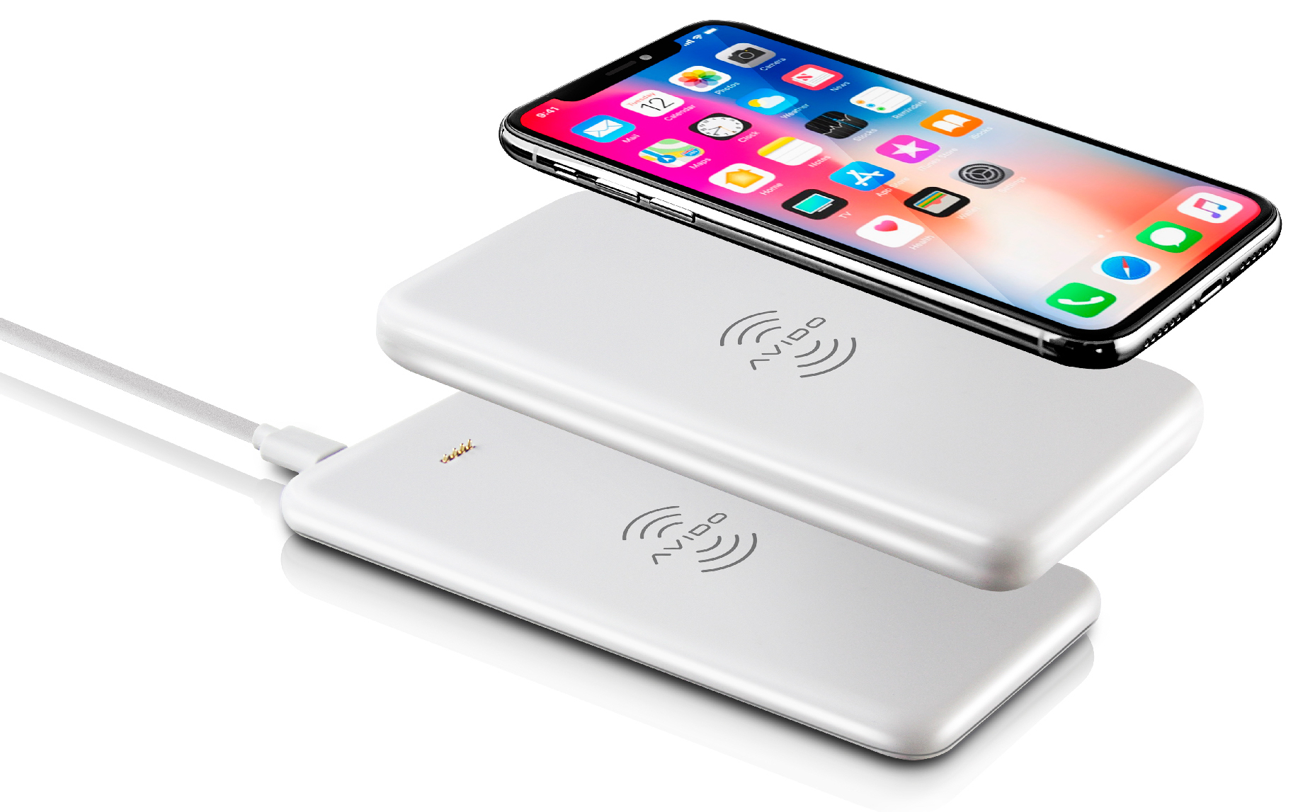 Bateria externa wireless WiBa Power Bank, da Avido