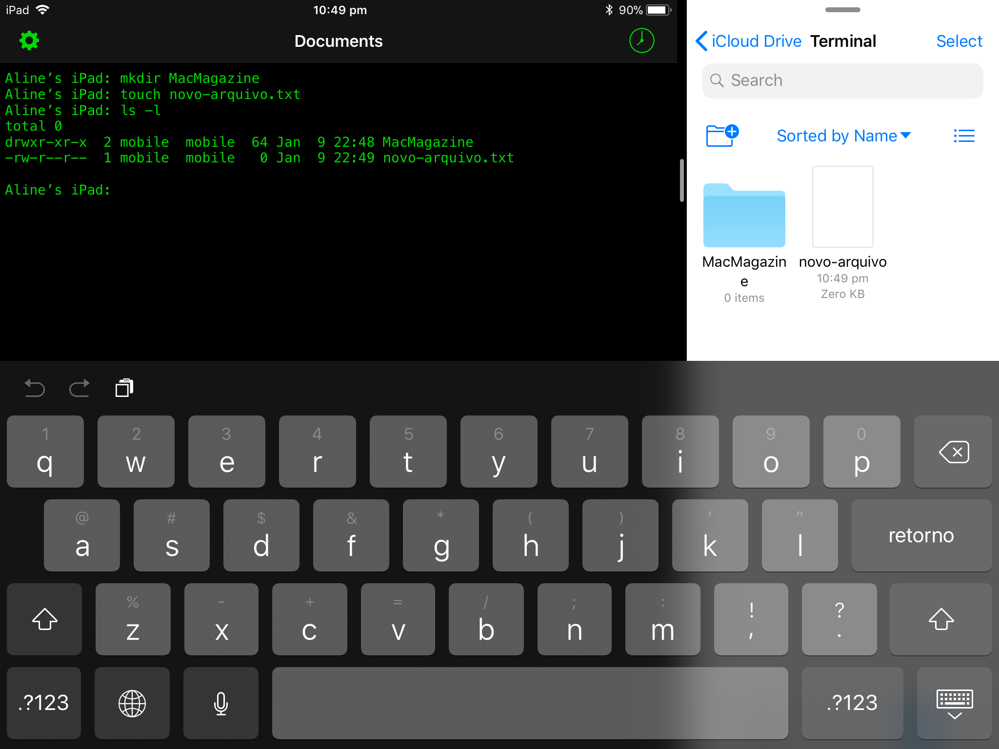 App Terminal para iOS
