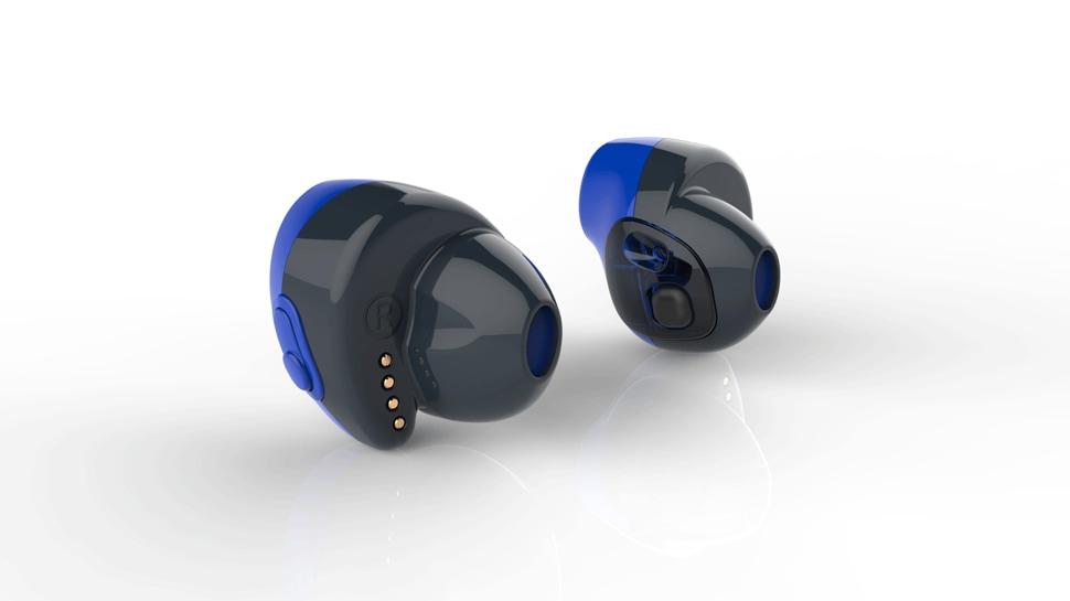 Conceito de fones sem fio usando o novo chip Bluetooth da Qualcomm
