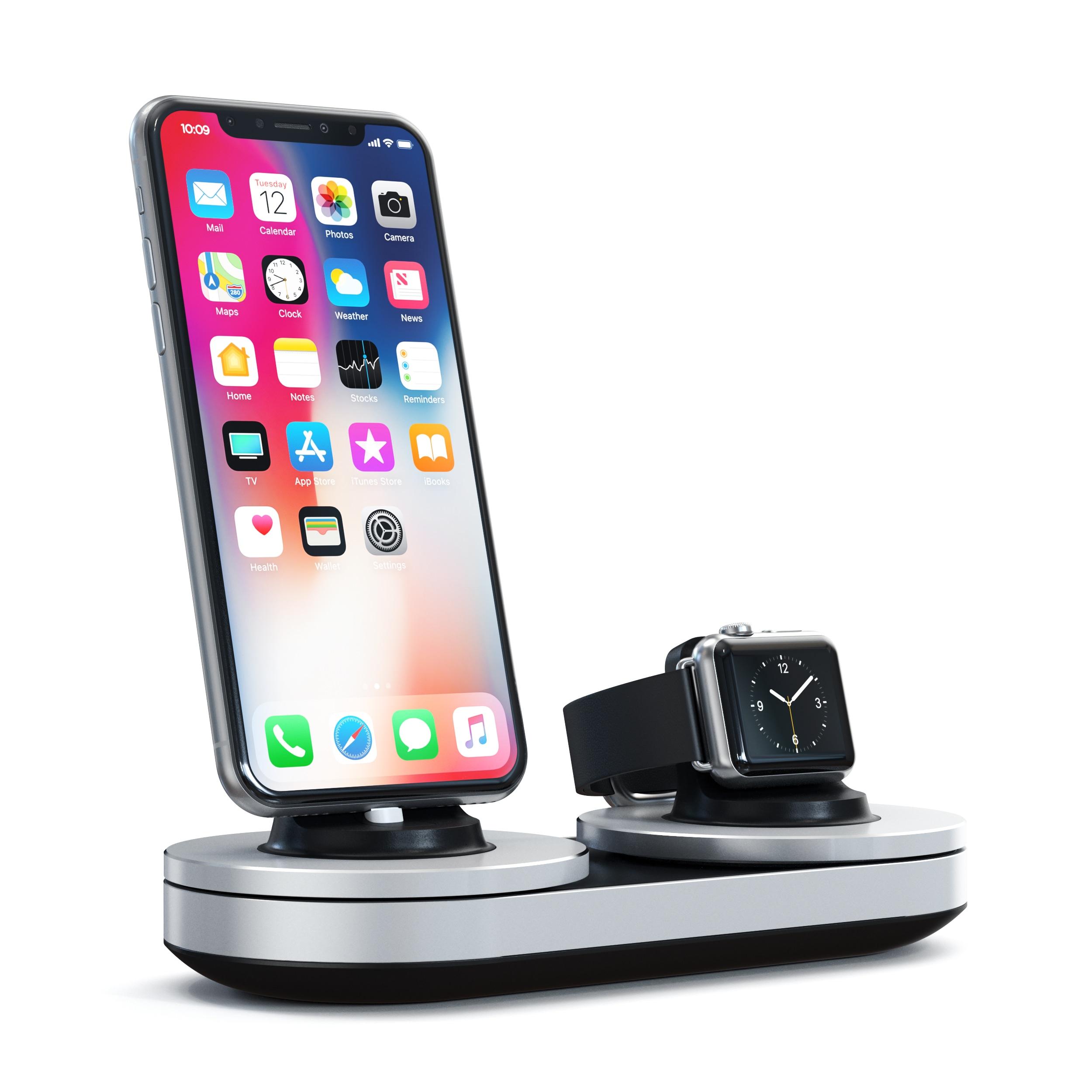 Dock de carregamento para iPhones e Apple Watches, da Satechi