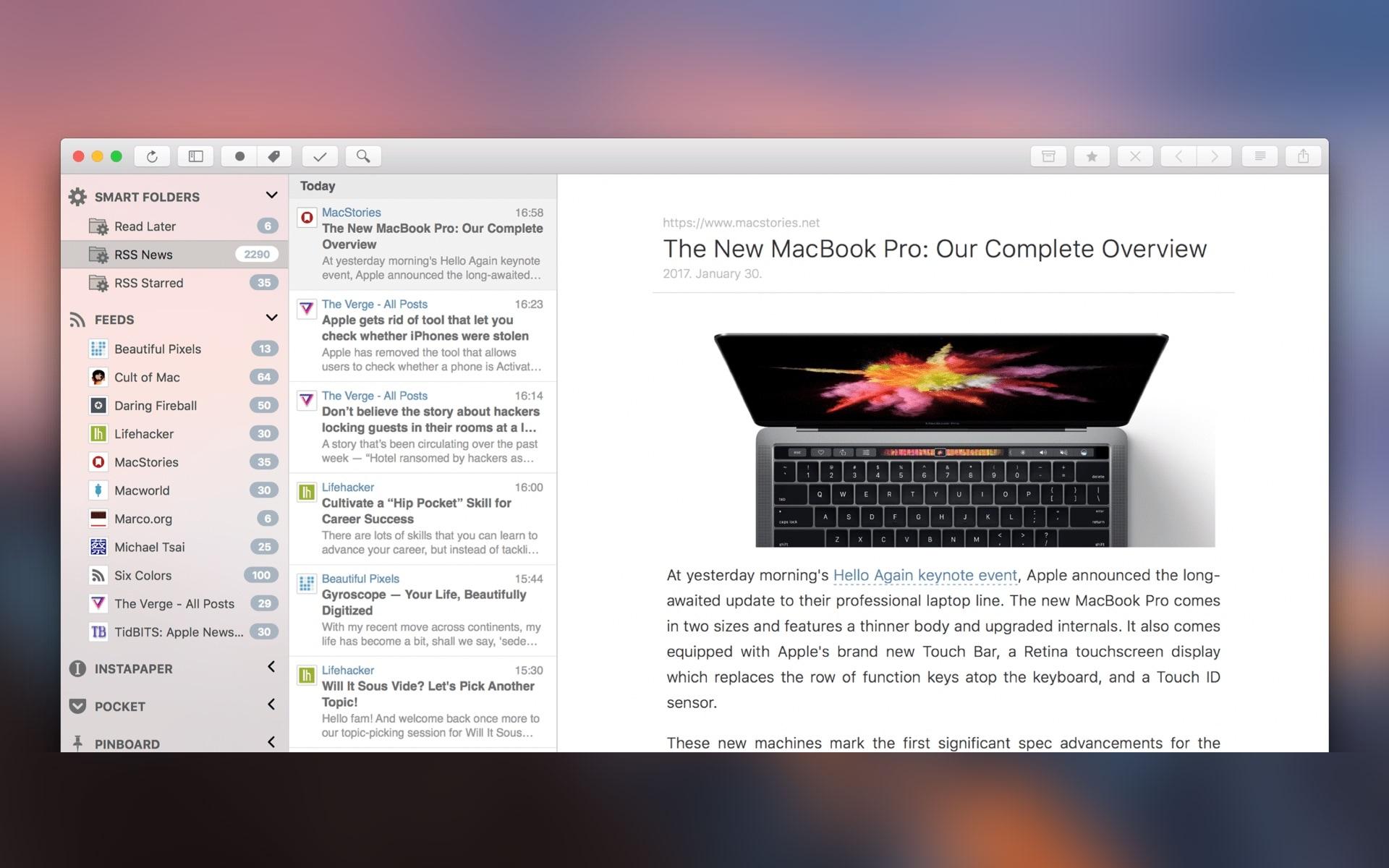 App ReadKit para macOS