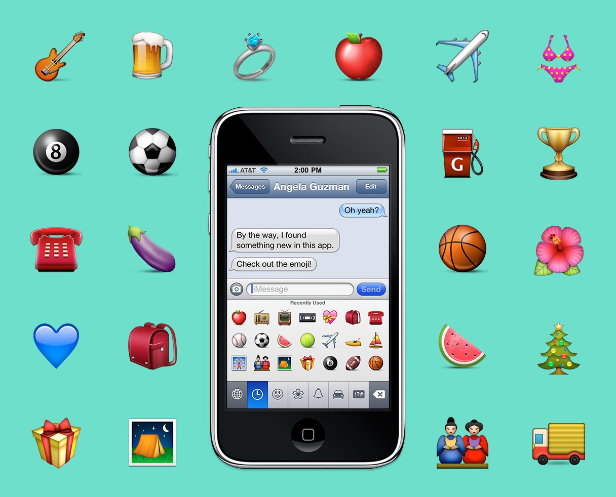 Emojis no iPhone original
