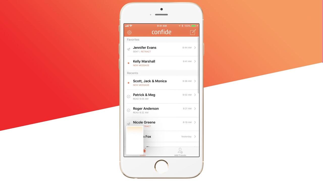 App Confide para iOS com proteção contra screenshots