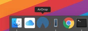 AirDrop e iCloud Drive no Dock
