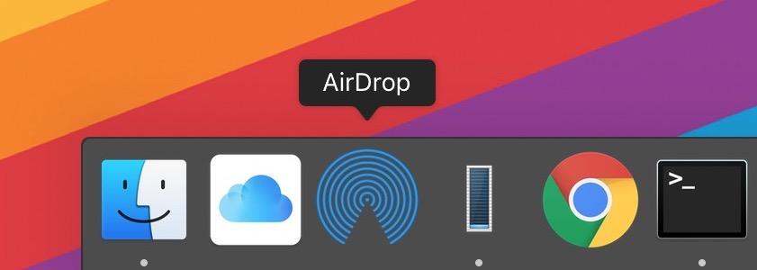 Dica: acesse o AirDrop e o iCloud Drive diretamente pelo Dock do macOS
