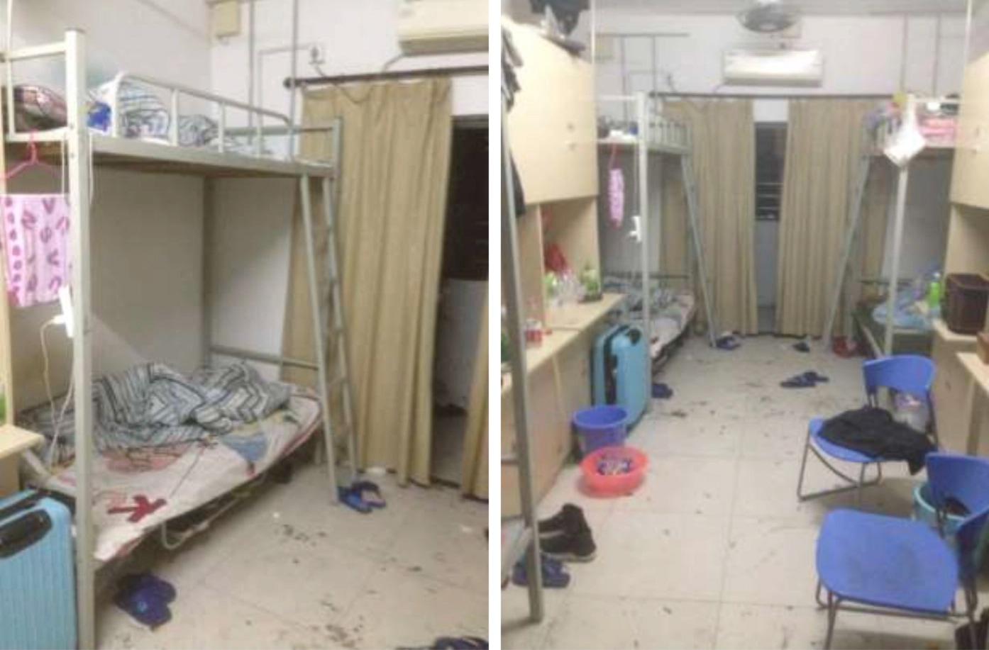 Dormitório de empregados da montadora Catcher