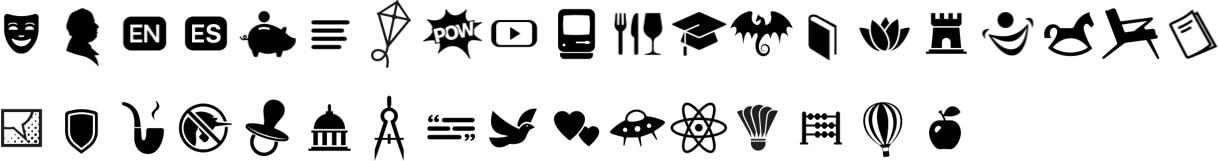 Novos ícones do Apple Books