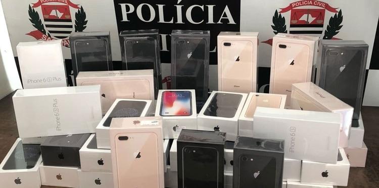 iPhones apreendidos