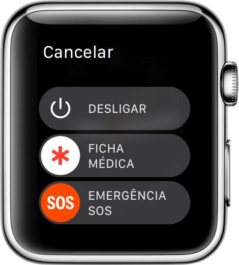 SOS de Emergência - Apple Watch