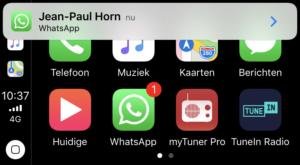 WhatsApp no CarPlay