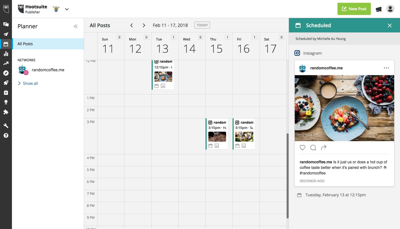 API para agendamento de posts no Instagram