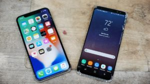 iPhone X e Samsung Galaxy S8