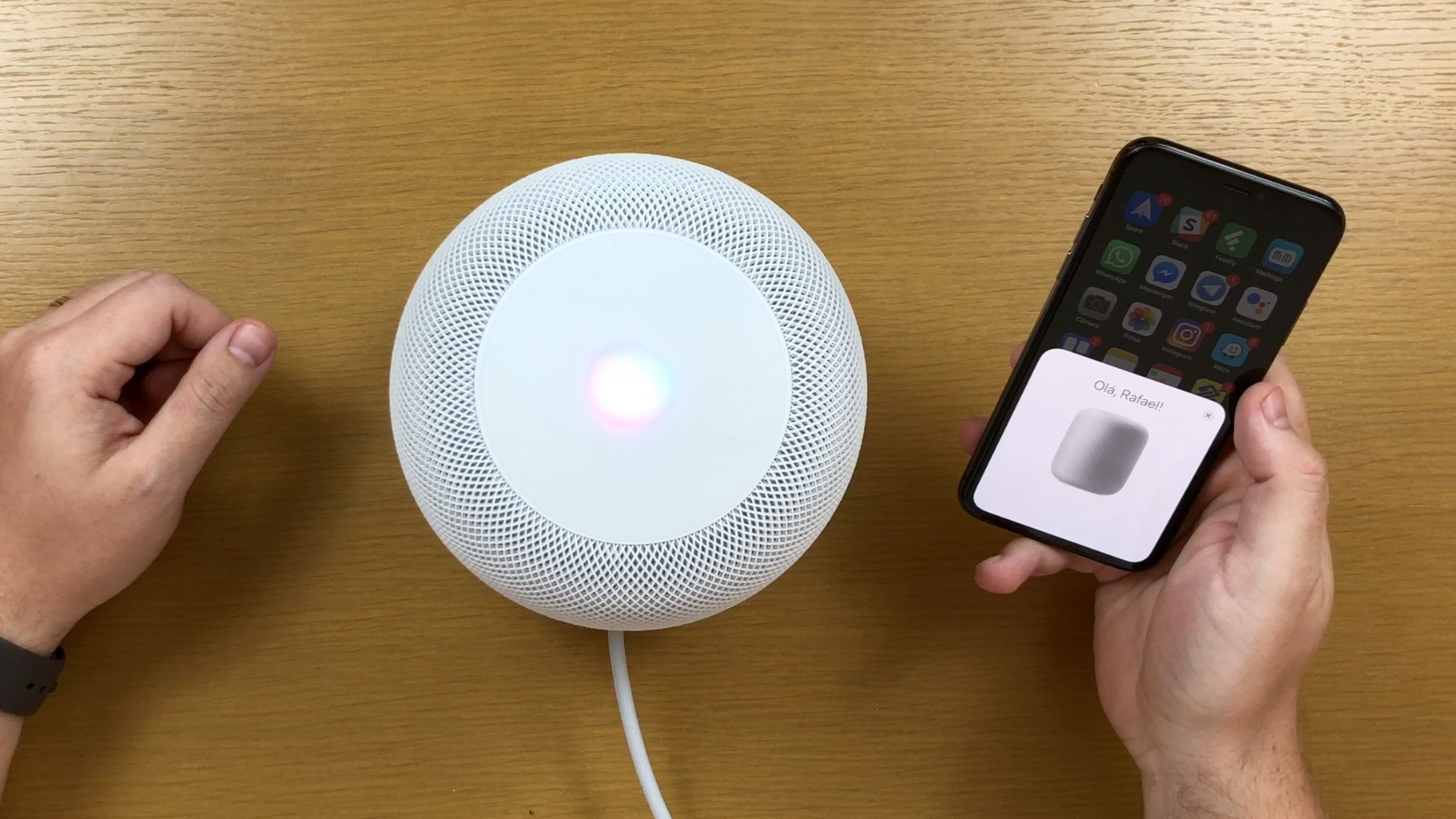 Configuração inicial do HomePod