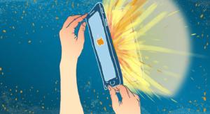 iPhone aberto