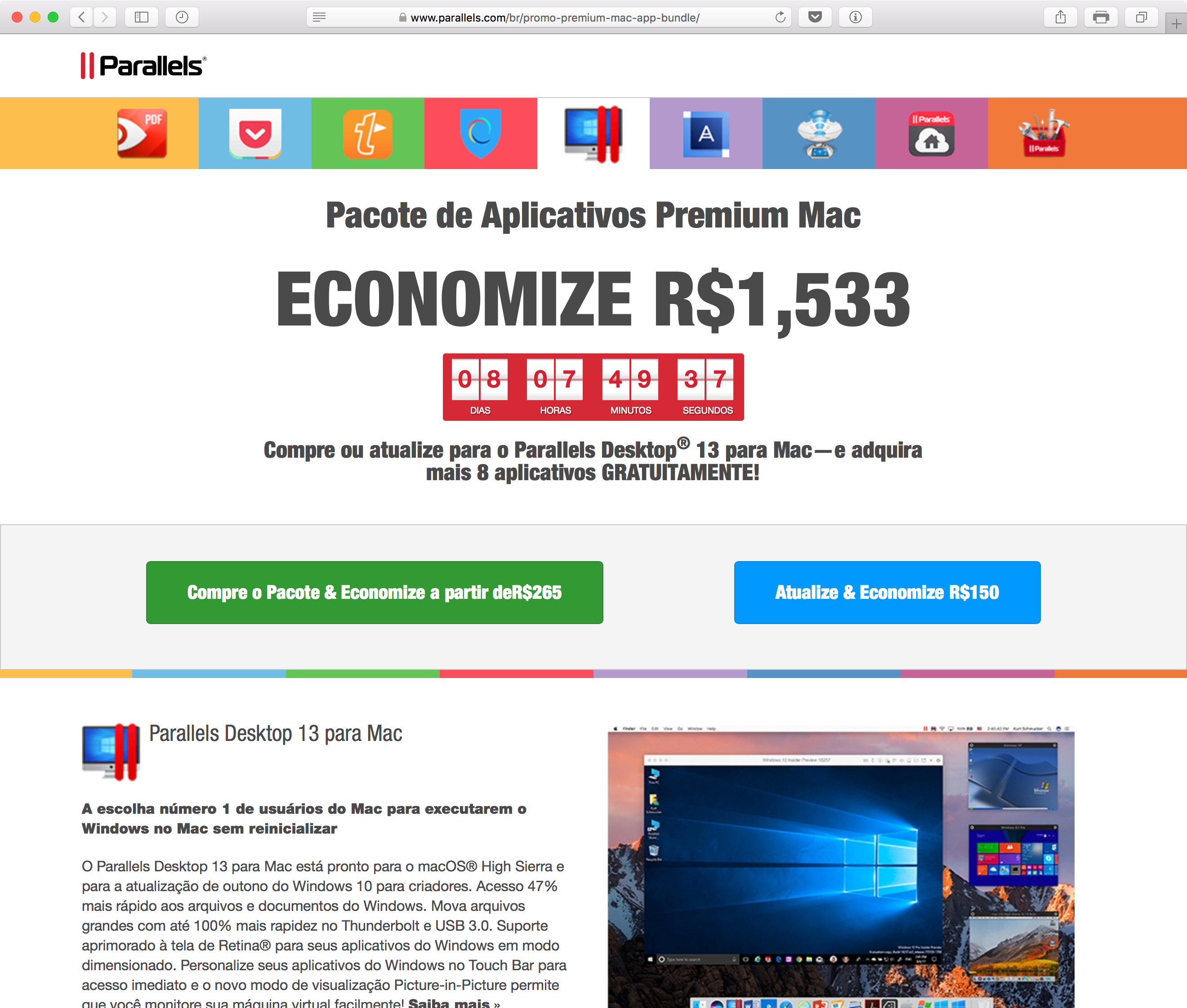 Parallels - Pacote de Aplicativos Premium Mac