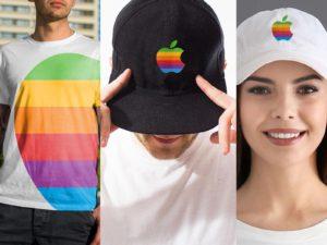 Conceitos da The Blast de roupas com a Maçã colorida da Apple