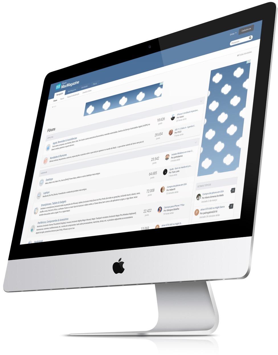 MM Fórum num iMac