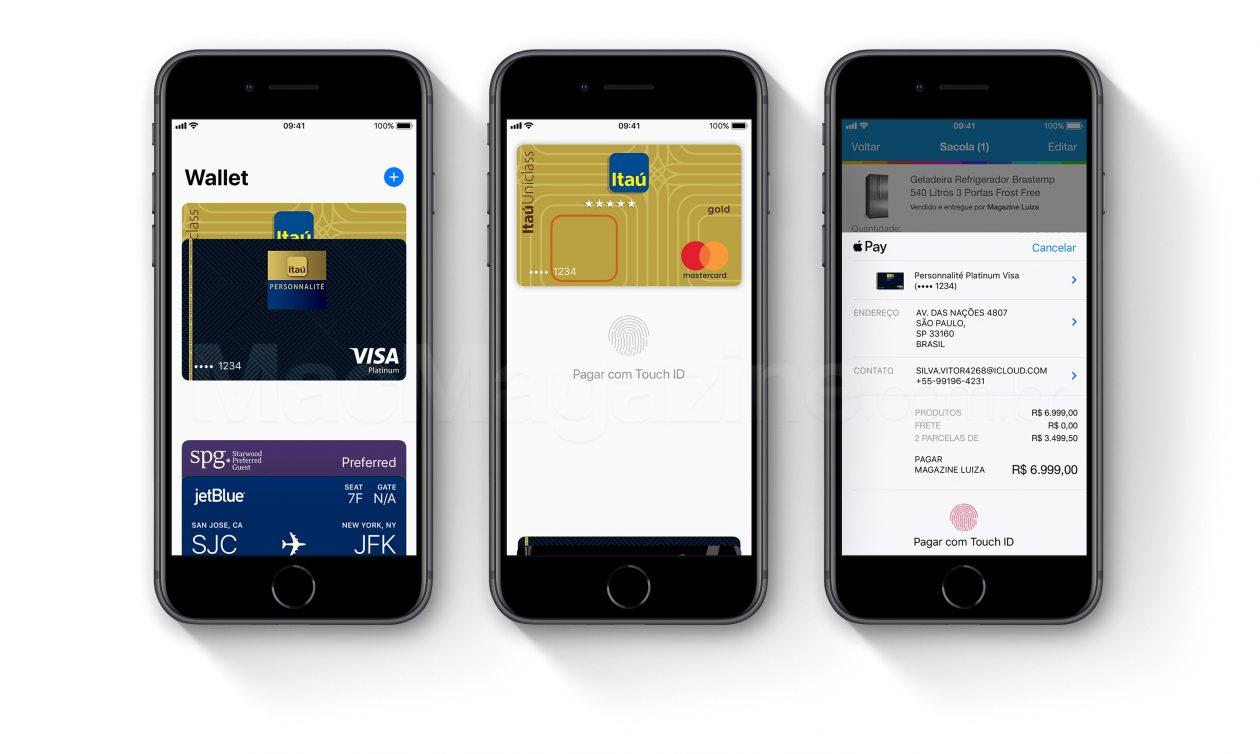 Apple Pay no Brasil com Banco Itaú em iPhones