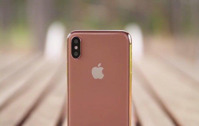 """iPhone X na cor """"cobre dourado"""""""