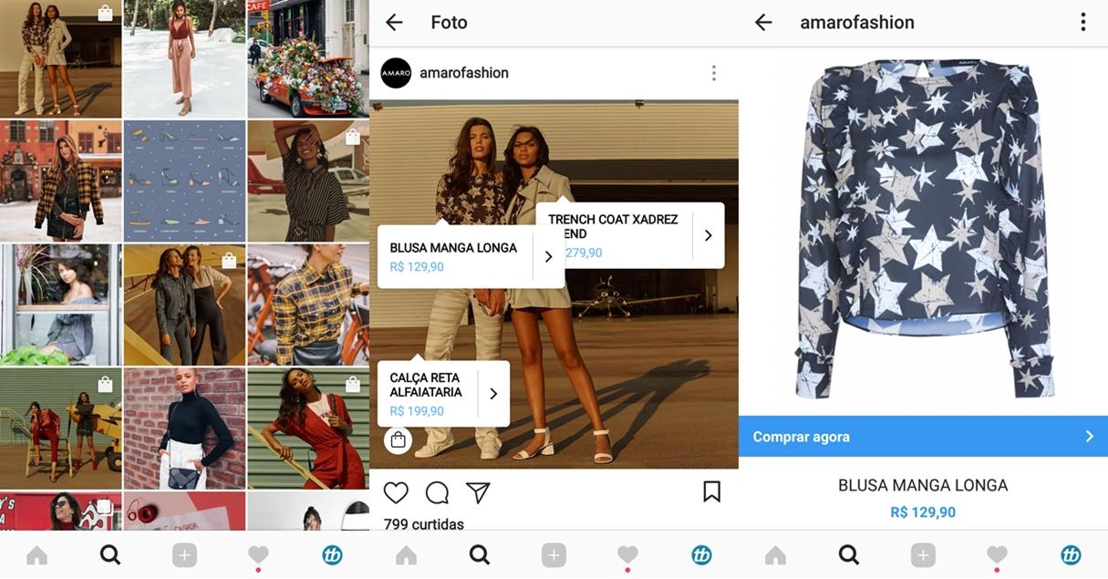Novo recurso de compras no Instagram