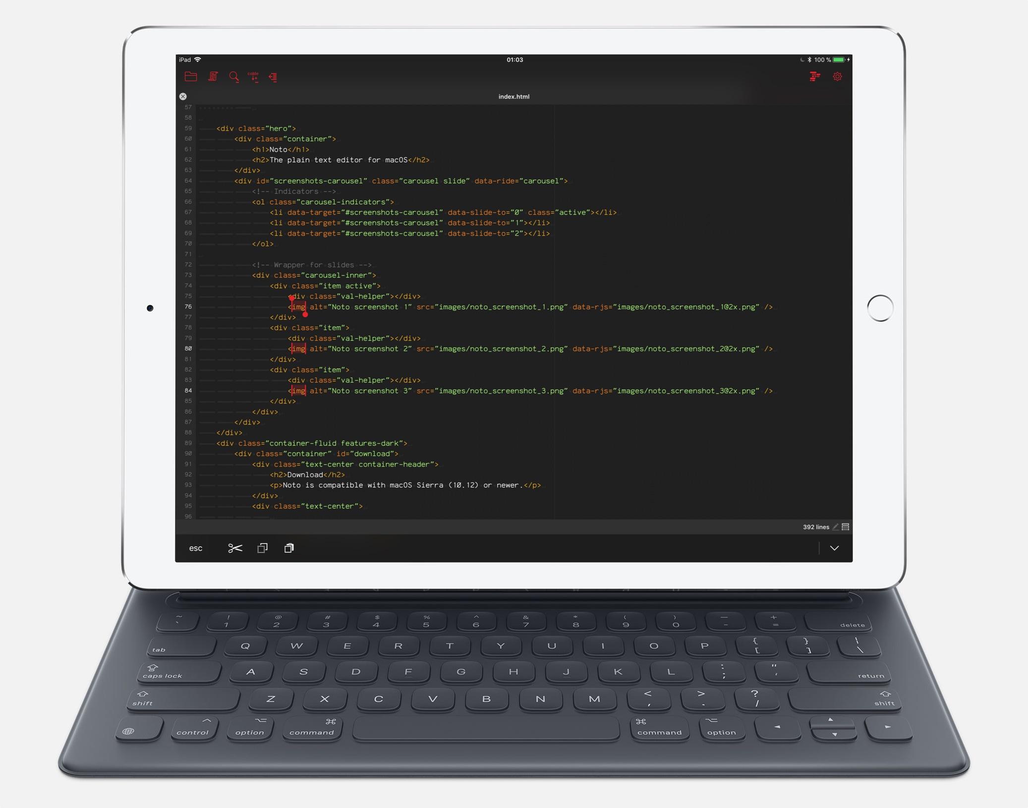 Aplicativo Kodex para iPads
