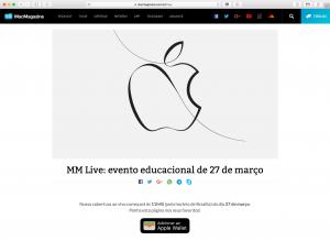 MM Live do evento especial de março