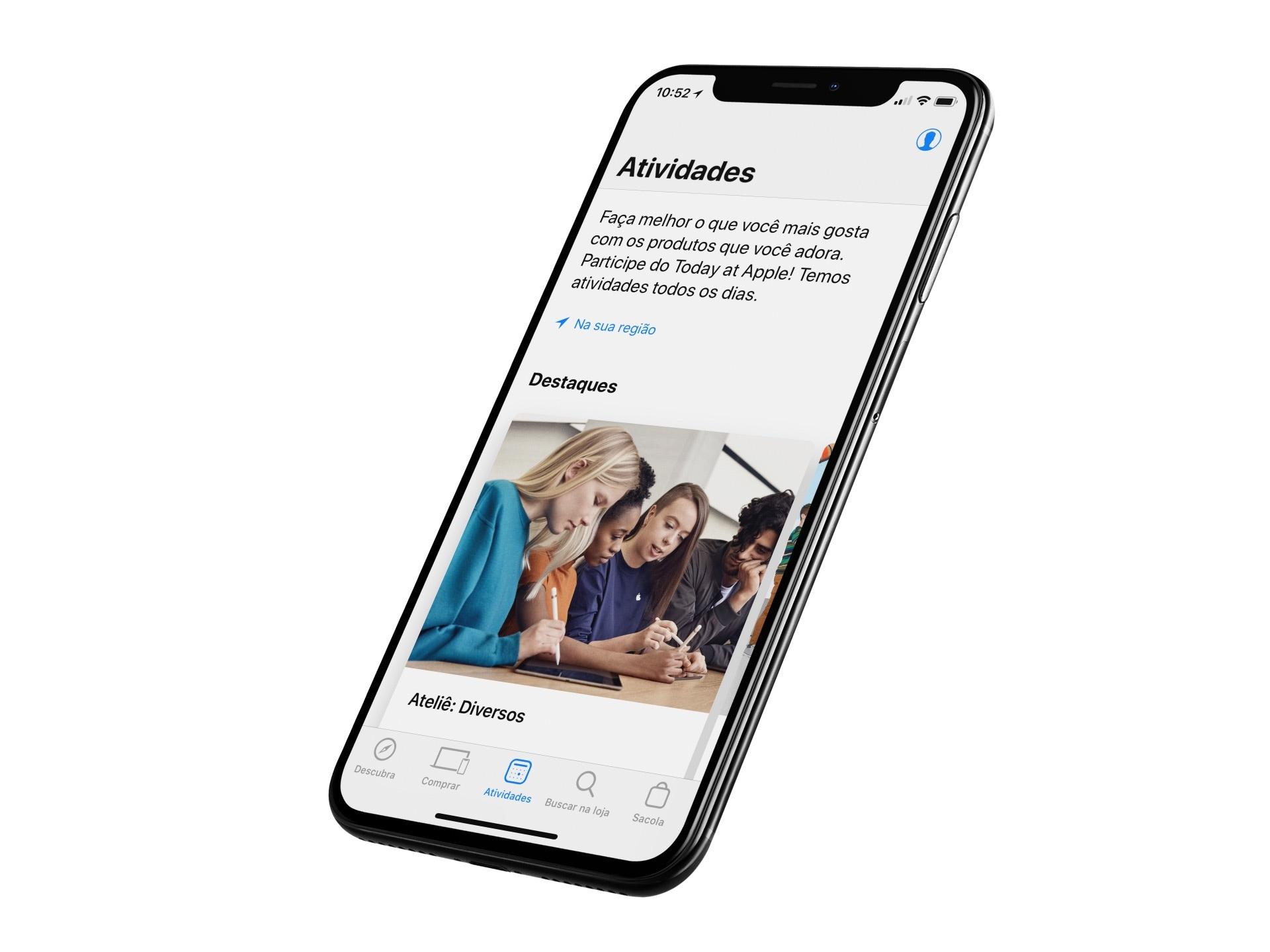 Aplicativo Apple Store para iOS e watchOS