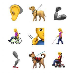 Novos emojis de acessibilidade propostos pela Apple