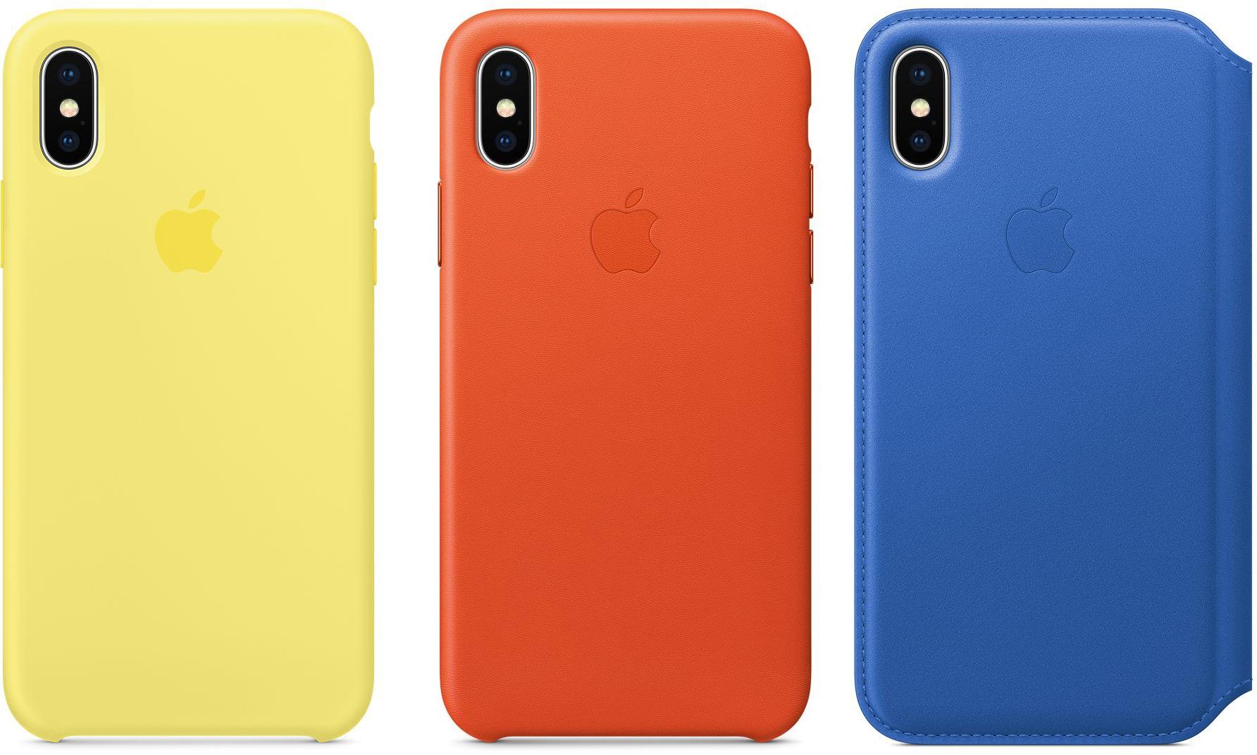 Novas cores de capas para iPhone X
