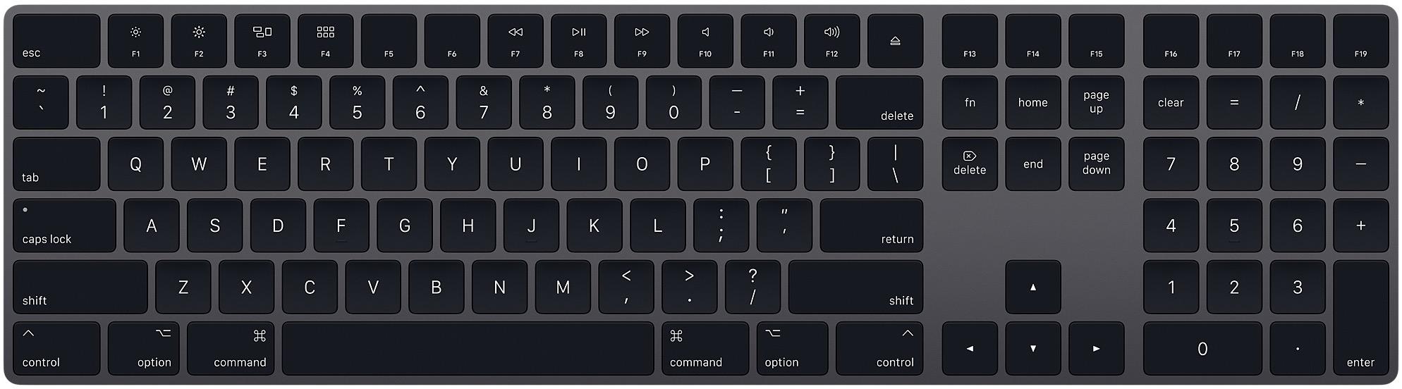 Magic Keyboard com teclado numérico na cor cinza espacial