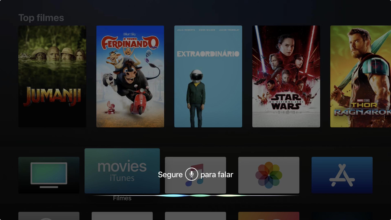 Siri em português na Apple TV