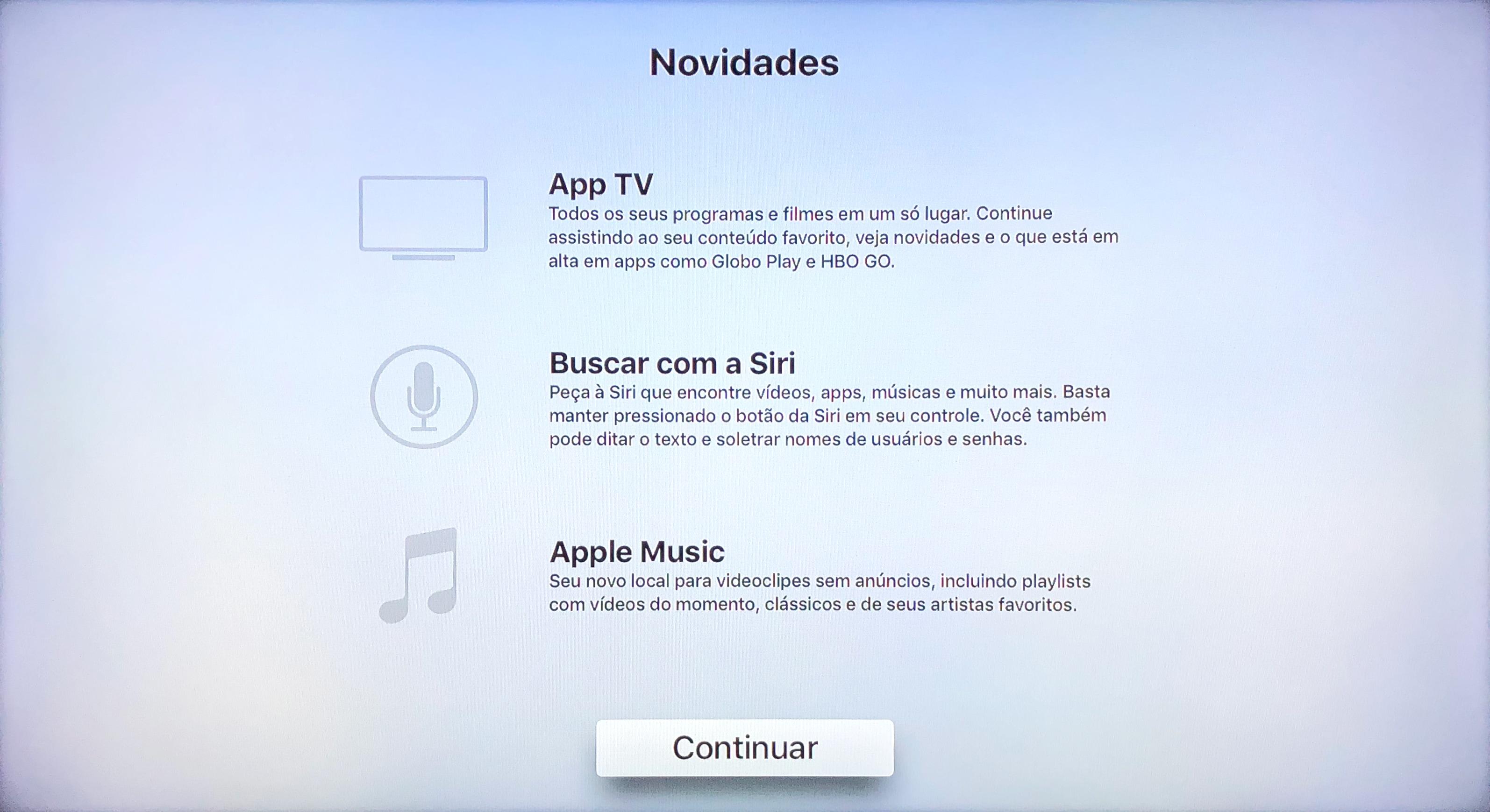 Novidades da Siri na Apple TV