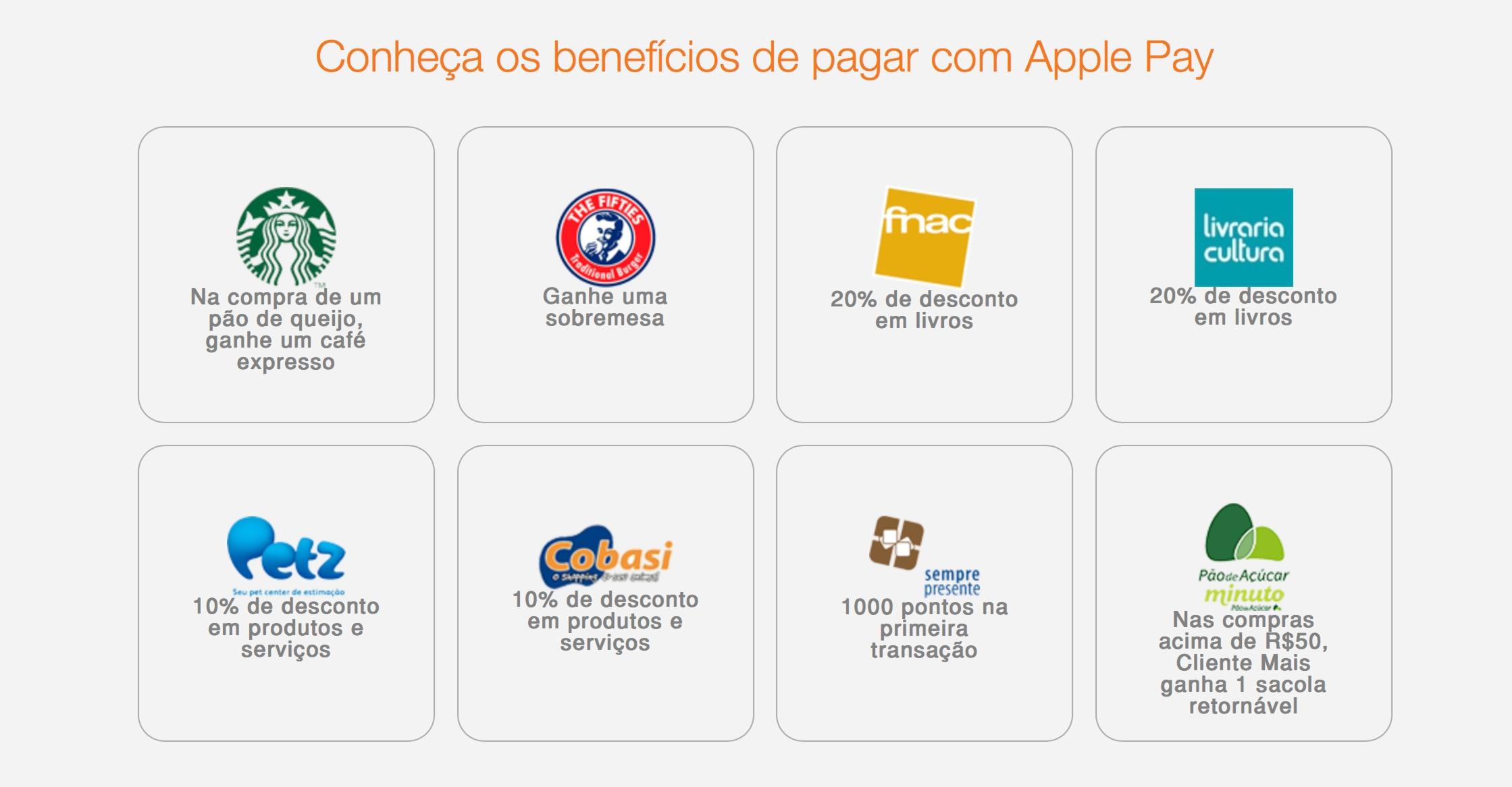 Benefícios de usar o Apple Pay