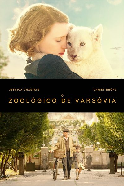 "Pôster do filme ""O Zoológico de Varsóvia"""