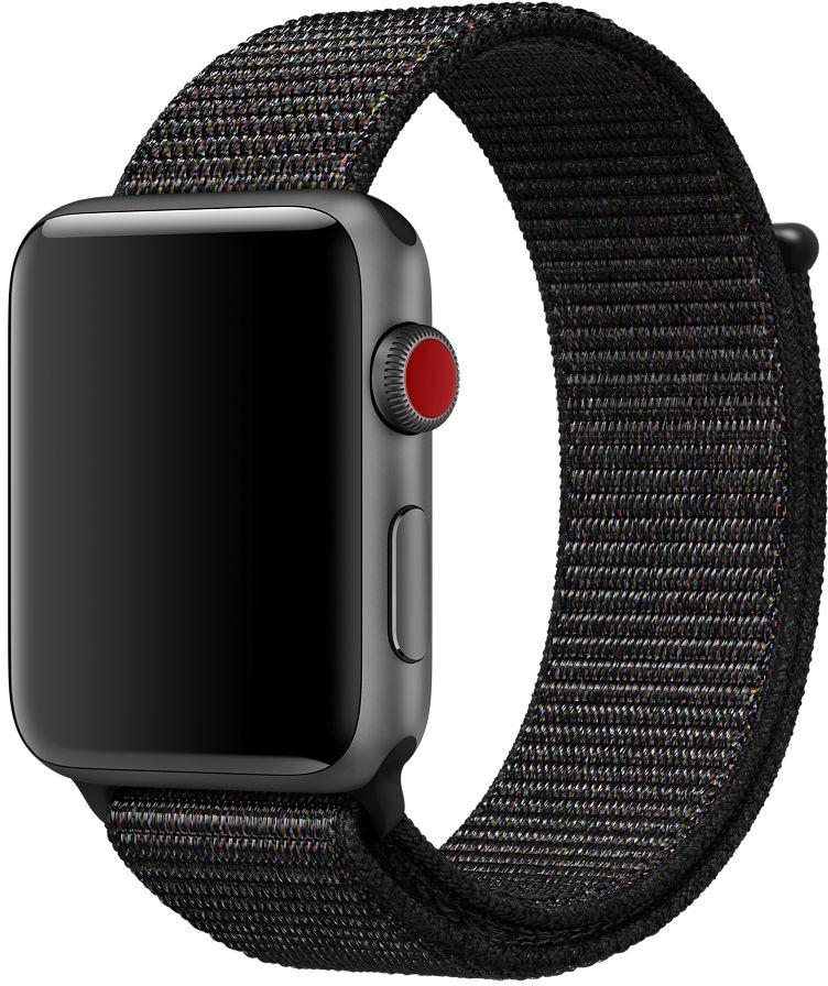 Pulseira de loop esportiva preta para Apple Watch