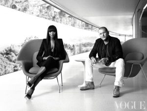 Vogue Apple — Naomi Campbell e Jony Ive