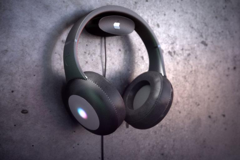 Conceito de headphones supra-auriculares da Apple, por Martin Hajek