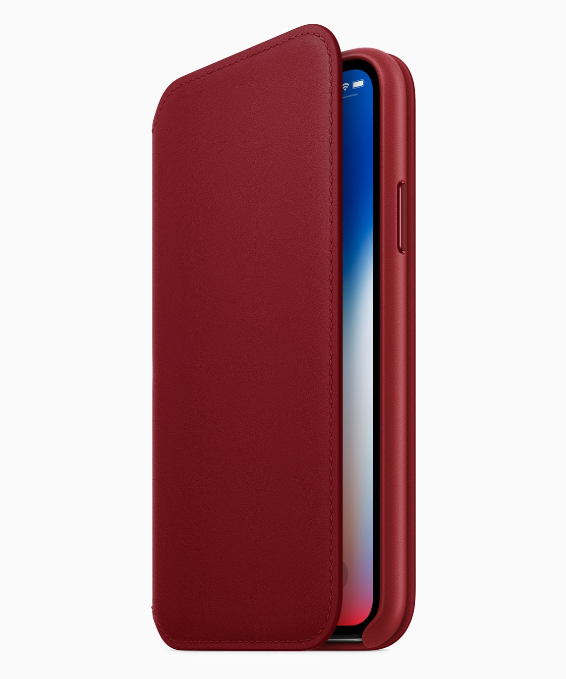 iPhone X Leather Folio na versão (PRODUCT)RED