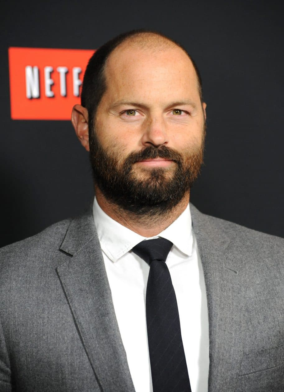 Jay Carson em evento da Netflix