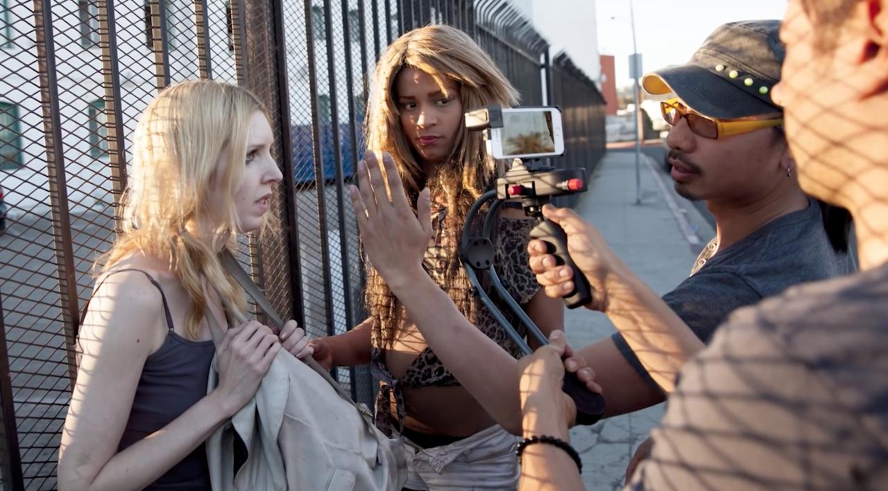 """Sean Baker e equipe filmando """"Tangerine"""" com um iPhone 5s"""