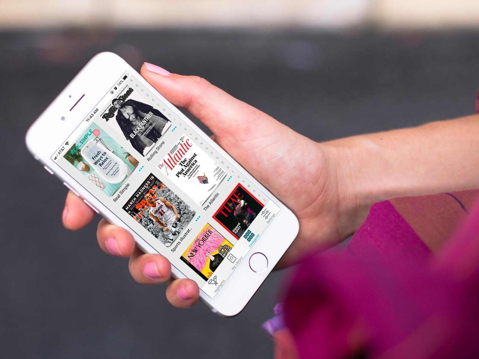 Revistas da Texture num iPhone