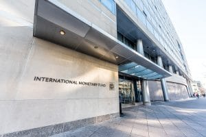 Entrada do International Monetary Fund (MF) em Washington