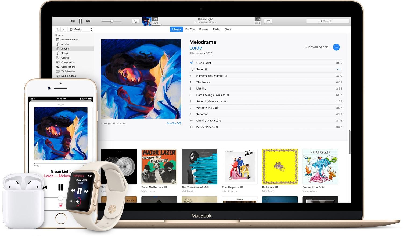 Música (Music) na Apple