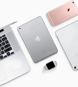 Produtos Apple usados e desgastados