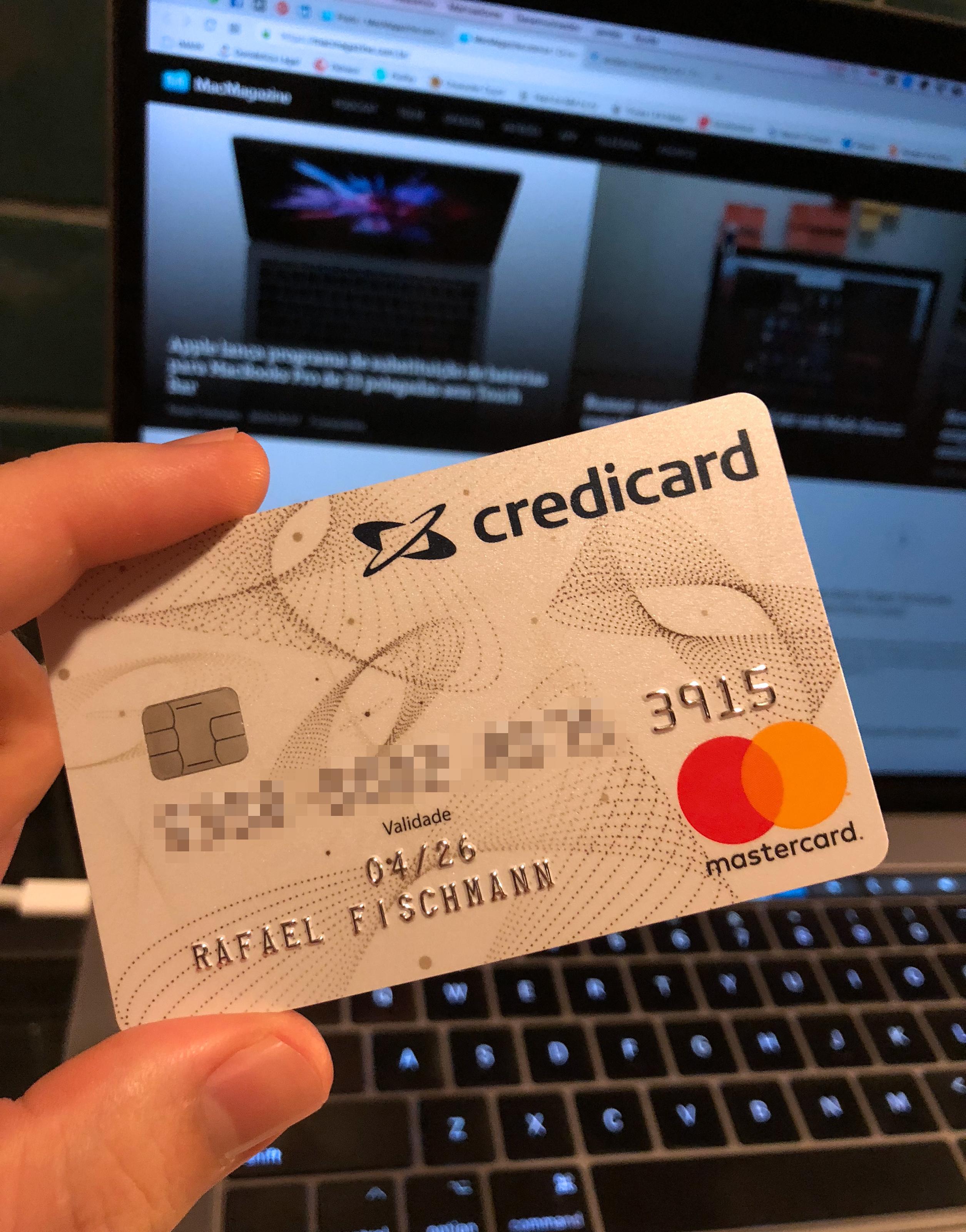 Meu cartão de crédito Credicard ZERO
