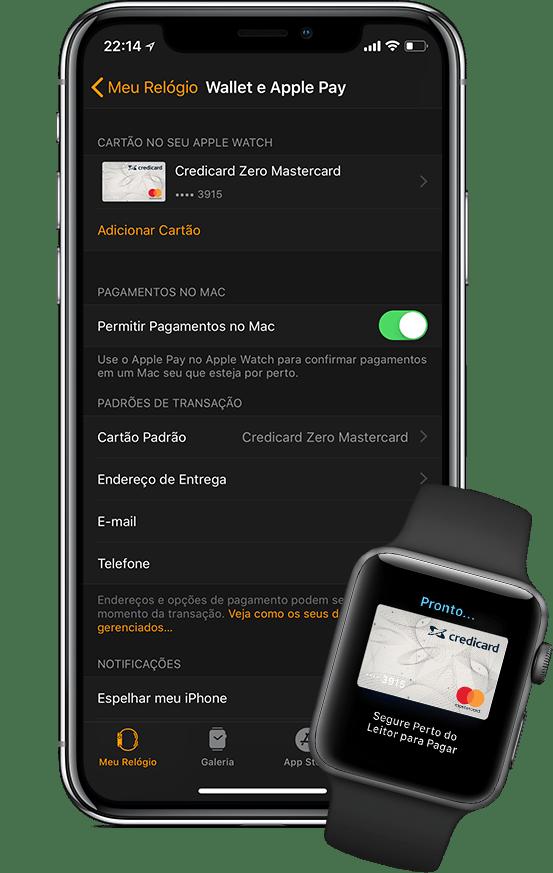 Credicard ZERO no iPhone X e no Apple Watch